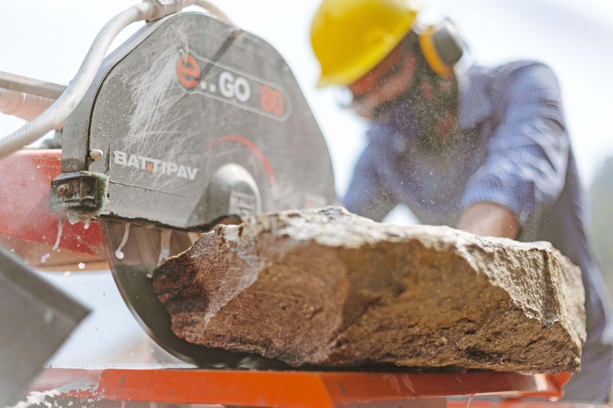 Stone Cutting - Buildup Nepal