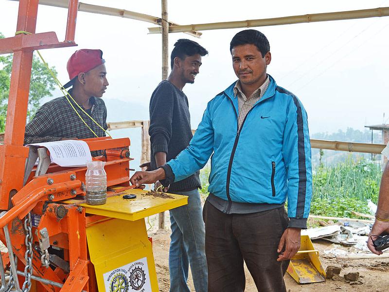 Interlocking Brick auram 3000 Nepal machine